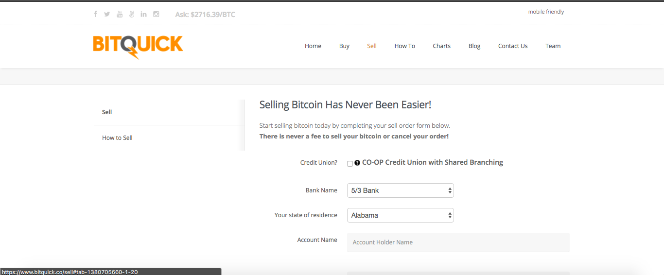 How to sell Bitcoins on BitQuick?