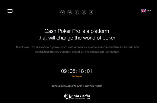 CashProPoker - decentralized online poker roo - ICO is coming