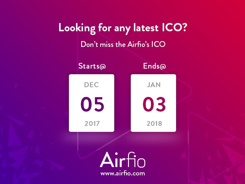 Airfio's ICO latest concept initiated with AI