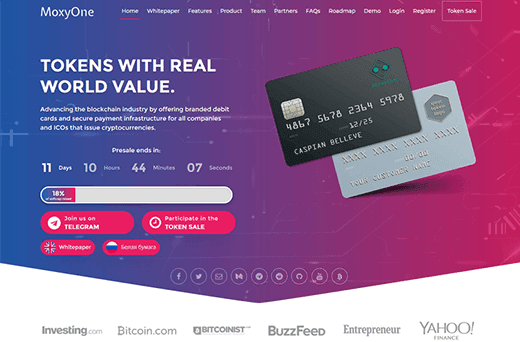 With MoxyOne you can use your Cryptocurrencies just like FIAT