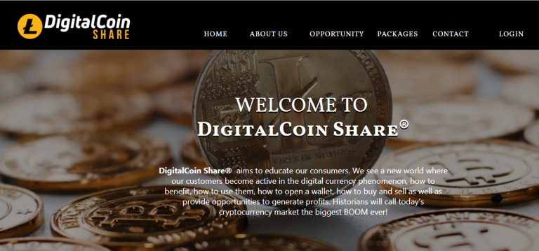Digitalcoin share website