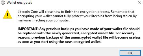Litecoin window shuts down