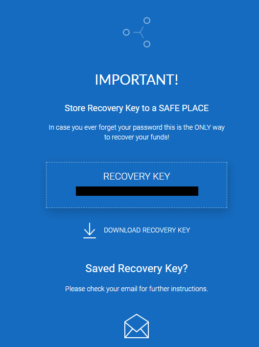 download the RECOVERY KEY