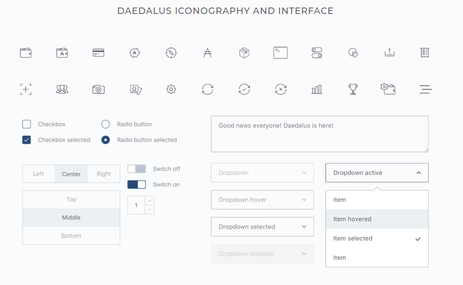 Daedalus Iconography and Interface