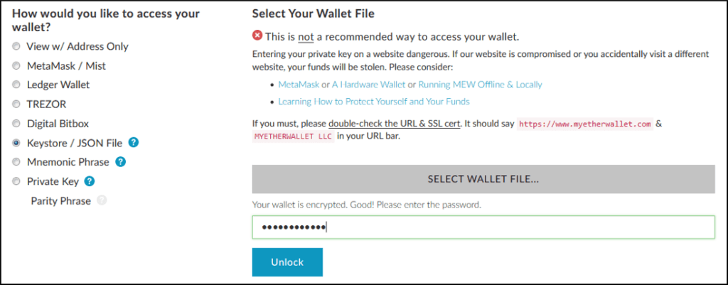 Access your wallet