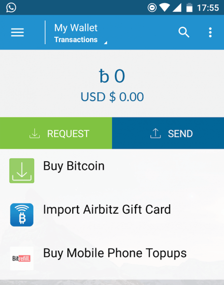 ready to send and receive bitcoins