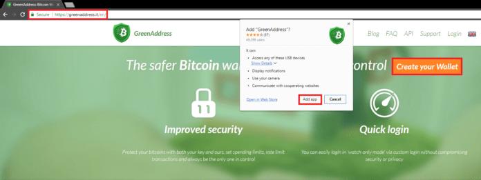 Add bitcoin wallet app