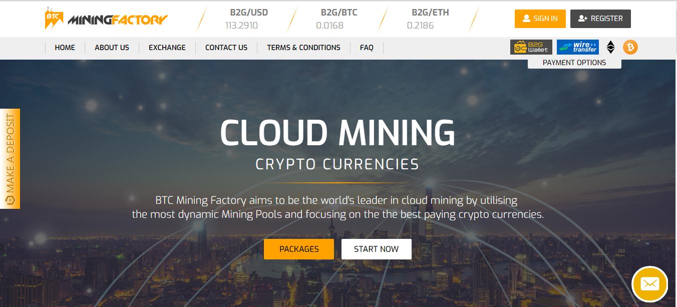BTC mining factory