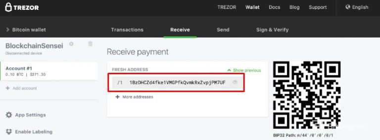 Receive payment