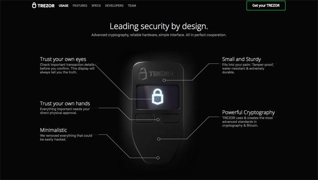 Trezor-Homepage