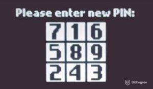 Enter Trezor pin
