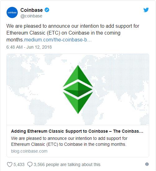 Coinbase ETC