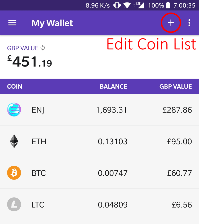 Adding the Tokens to your Enjin Wallet