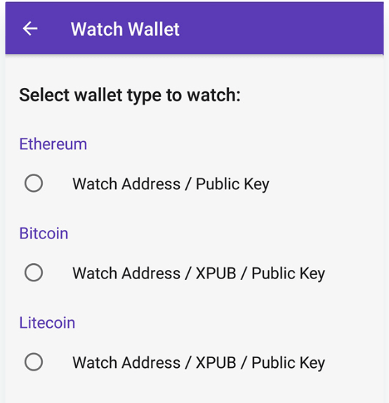 Track Infinite Wallets