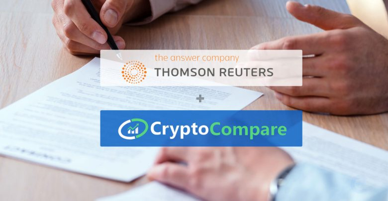 Thomson Reuters and CryptoCompare