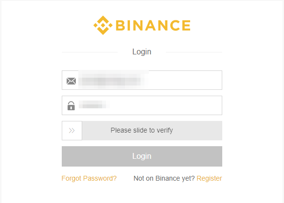 Login Binance Account
