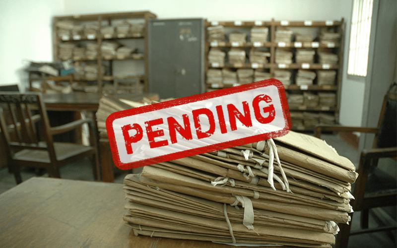 Cases pending in India