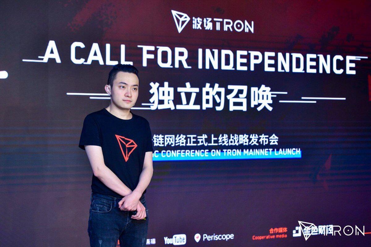 Justin Sun: Tron Reaches 1 million Users