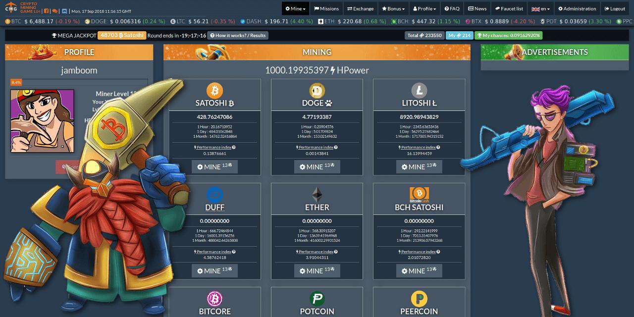 crypto mining game mining