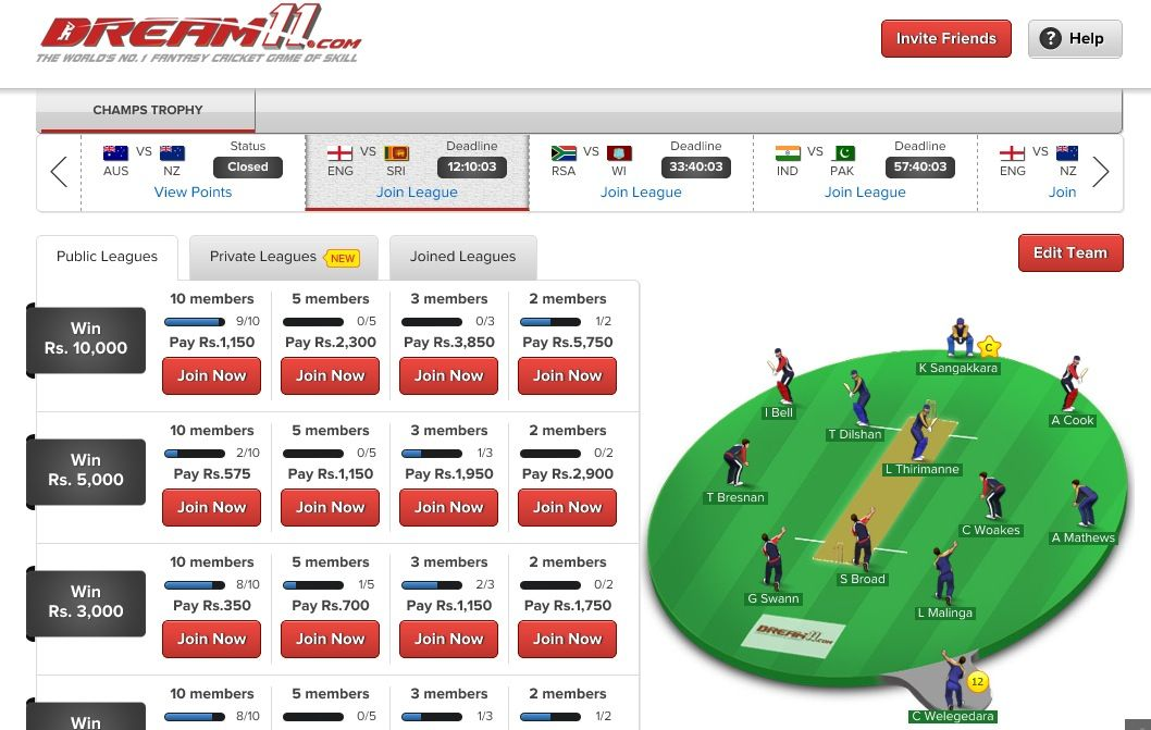 Dream11 offers