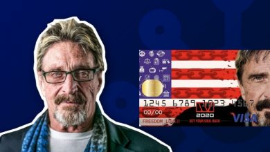 Photo of John MCafee Introduce The Look Of His Crypto Debit Card