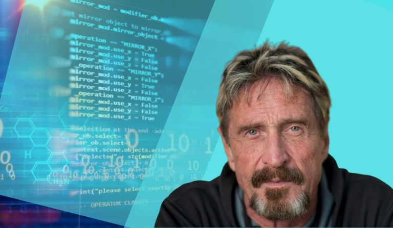John Mcafee's Bold Statements on Privacy Coins, Monero and Apollo