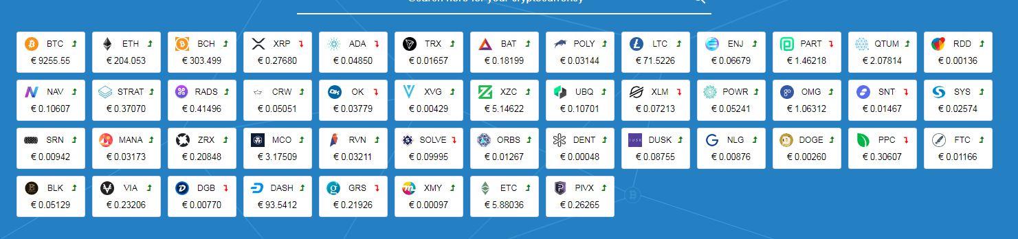 litebit.eu supported currencies