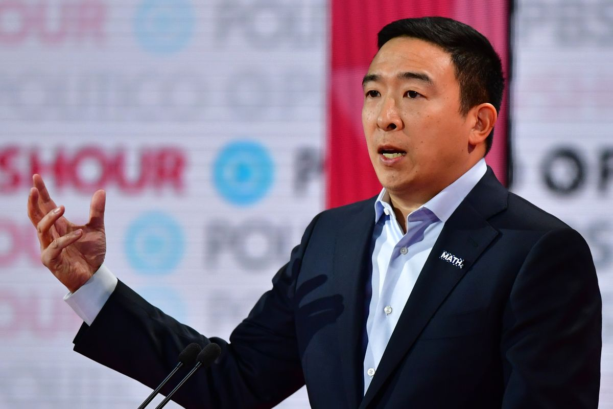 Andrew Yang Suggests Every American adult should get $2,000 a Month until the Pandemic ends