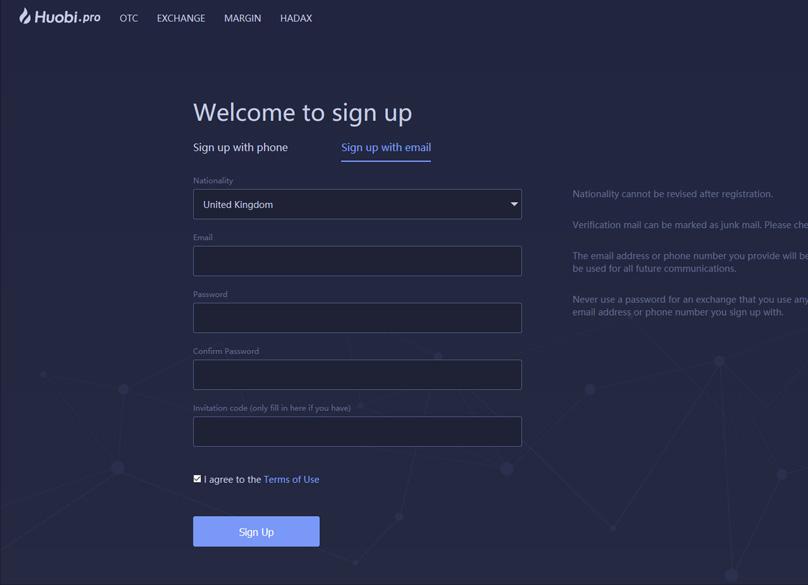 register-on-Huobi-Exchange