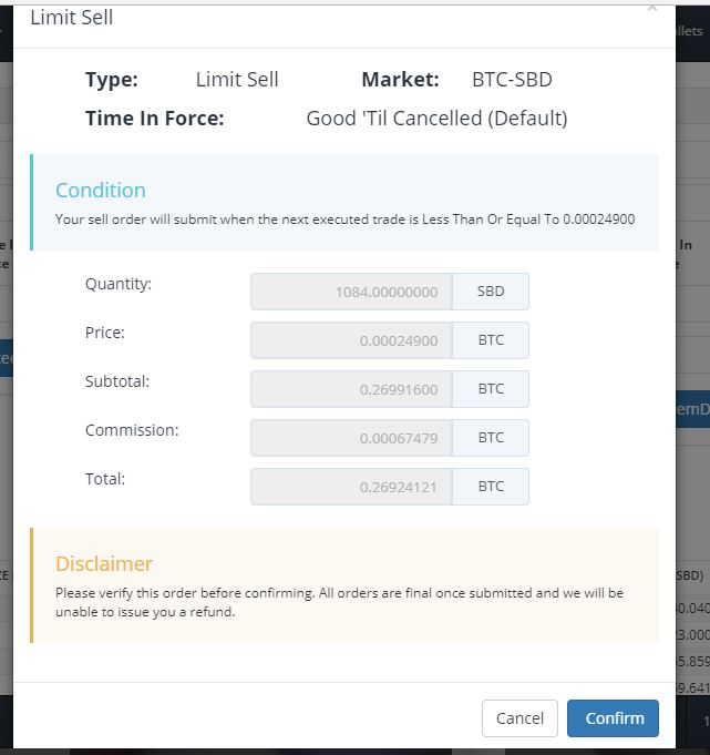 crypto-sell-in-bittrex