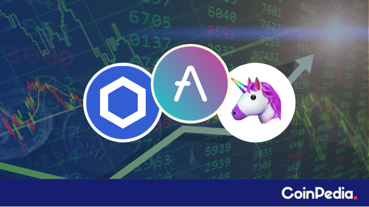 DeFi Tokens Towards Crucial Resistance! LINK, <bold>AAVE</bold>, UNI Price Surge