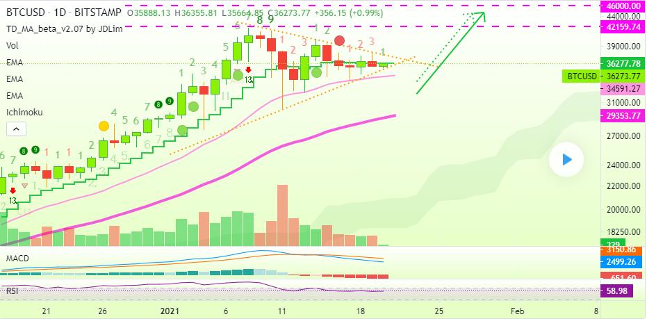 BTC trading chart