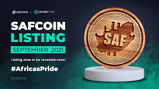 SAFCOIN's HotBit Listing makes South African History Books